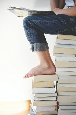 Afbeelding boekenstapel