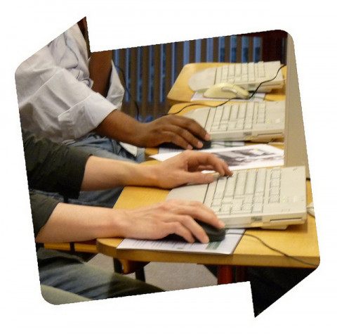 afbeelding internetcafé